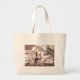 Meerkats Large Tote Bag