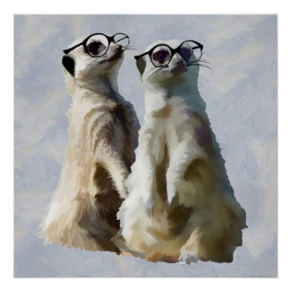 Meerkats on Patrol Poster