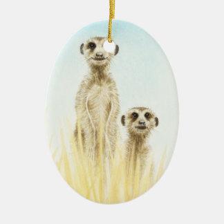 Meerkats Ornament