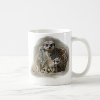 meerkats taza básica blanca