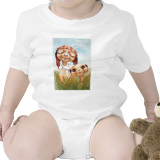Meerkats with Aviation Apparel Onsie Baby Bodysuits