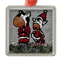 Meerry Christmoo's! Metal Ornament
