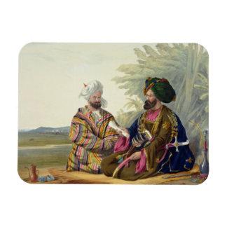 Meerz Fyze, un Oosbeg Elchee, o embajador, placa Iman