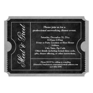 Meet and greet invitations announcements zazzle meet and greet business event ticket invitations m4hsunfo