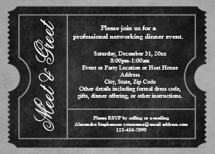 Meet and greet invitations zazzle meet and greet business event ticket invitations m4hsunfo