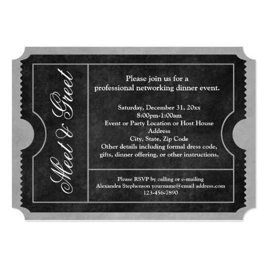 meet and greet business event ticket invitations zazzle com