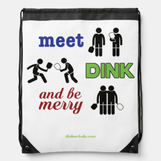 """""""Meet, Dink, and Be Merry"""" Pickleball Backpack"""