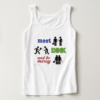 """Meet, Dink, and Be Merry"" Pickleball Tank Top"