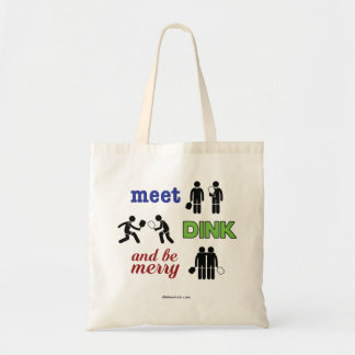 """""""Meet, Dink, and Be Merry"""" Pickleball Tote Bag"""