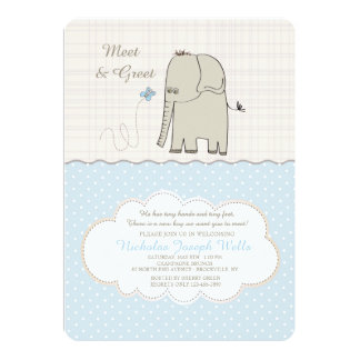 Meet & Greet Baby Boy Invitation
