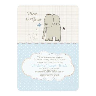 Toddler & Baby themed Meet & Greet Baby Boy Invitation