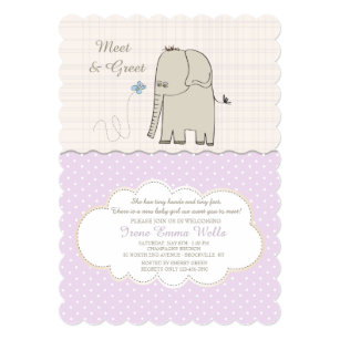 meet the baby invitations zazzle
