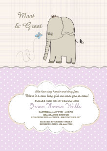 Meet and greet invitations announcements zazzle meet greet baby girl invitation m4hsunfo
