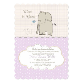 Meet & Greet Baby Girl Invitation