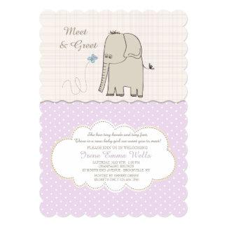 Meet & Greet Baby Girl Invitation