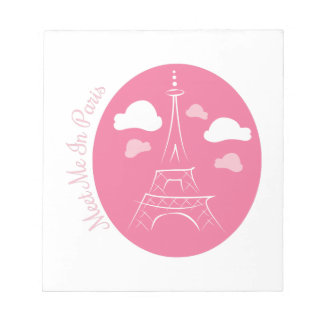 Meet In Paris Note Pad