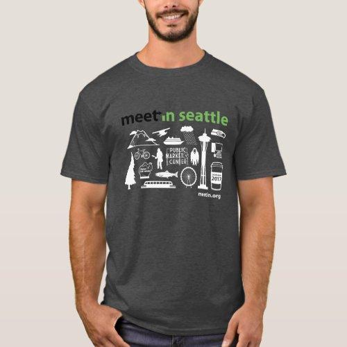 Meet_in Seattle 2017 icons dark background T_Shirt