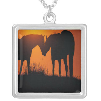 Meet In The Middle Square Pendant Necklace