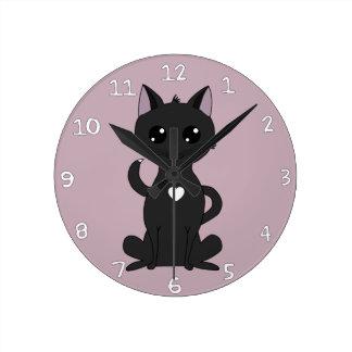 Meet Jolia the Cat Round Clock