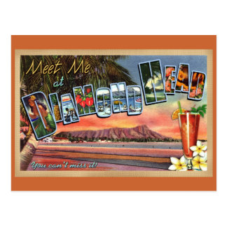 Meet Me at Diamond Head Postcard