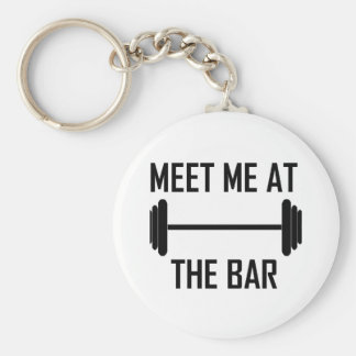 Meet me at the bar funny quote keychain