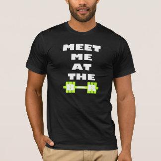 Meet Me At The Bar - Inspirational Weight Lifting T-Shirt