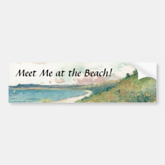 Meet Me at the Beach! Bumper Sticker Car Bumper Sticker