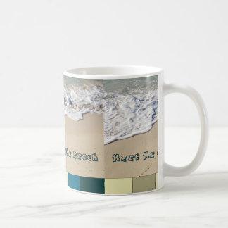 Meet Me at the Beach Classic White Coffee Mug