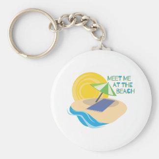 Meet Me At The Beach Keychain