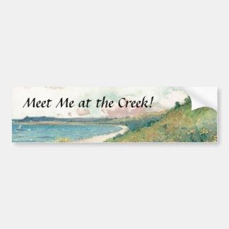 Meet Me at the Creek! Bumper Sticker Car Bumper Sticker