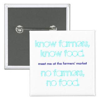Meet me at the farmers' market badge pin