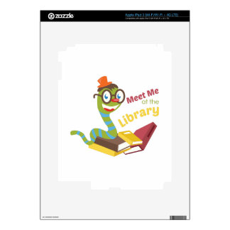 Meet me at the library skin for iPad 3