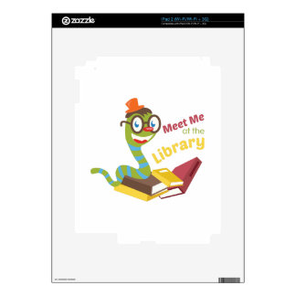 Meet me at the library iPad 2 decal