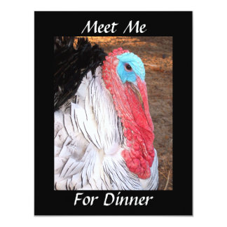 Meet Me  For Dinner Card
