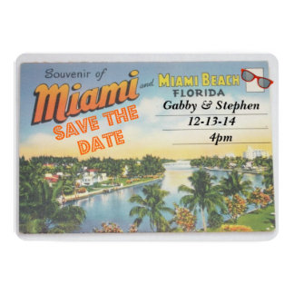 Meet me in Miami 5x7 Paper Invitation Card