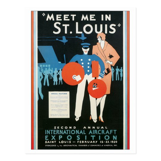 Meet Me in St. Louis Int'l Aircraft Exposition Postcard