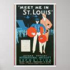 Meet Me in St. Louis Vintage Travel Poster Artwork