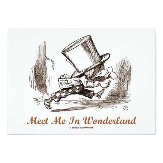 Meet Me In Wonderland (Mad Hatter Running) Card