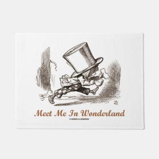 Meet Me In Wonderland Mad Hatter Running Doormat