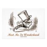 Meet Me In Wonderland (Mad Hatter Running) Custom Announcements