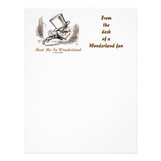 Meet Me In Wonderland (Mad Hatter Running) Letterhead
