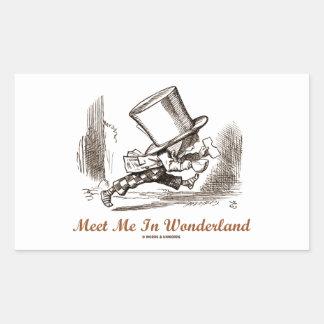 Meet Me In Wonderland (Mad Hatter Running) Stickers