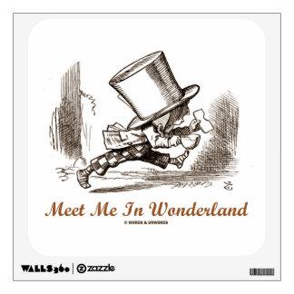 Meet Me In Wonderland (Mad Hatter Running) Wall Sticker