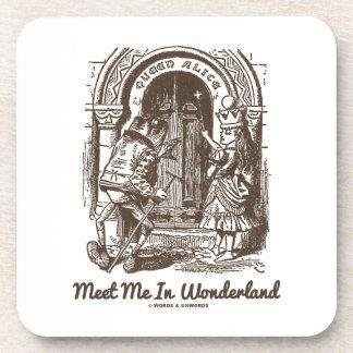 Meet Me In Wonderland (Queen Alice Frog) Beverage Coasters