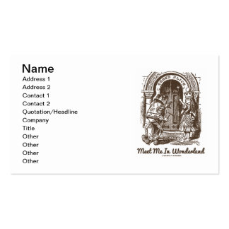 Meet Me In Wonderland Queen Alice Frog Doorway Double-Sided Standard Business Cards (Pack Of 100)