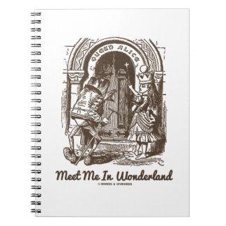 Meet Me In Wonderland (Queen Alice Frog) Spiral Note Book