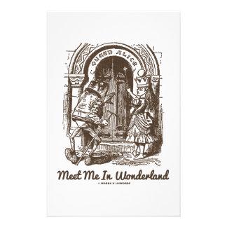 Meet Me In Wonderland (Queen Alice Frog) Stationery