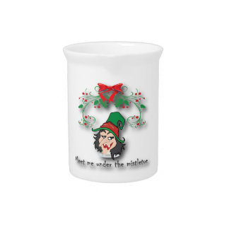 Meet me under the mistletoe3 beverage pitcher