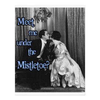 Meet me under the mistletoe flyer