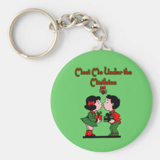Meet me Under the Mistletoe KeyChain